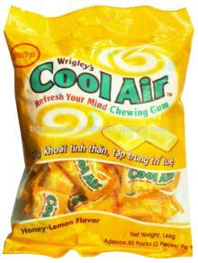 COOL AIR HONEY-LEMON CHEWING BAG 131.4G/WRIGLEYS CHEWING GUM