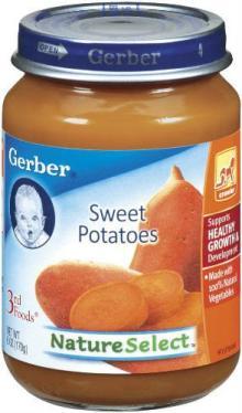 GERBER 3RD FOODS BABY FOOD SWEET POTATO 12 CASE 6 OUNCE