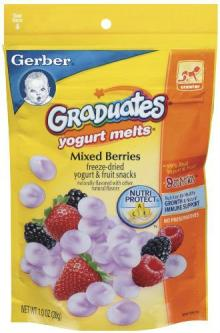GRADUATES YOGURT MELTS MIXED BERRY 8 CASE 1 OUNCE