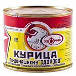 Stewed chicken meat (canned)