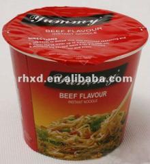 instant noodle in cup 60g beef flavor