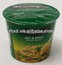 hot   spicy  cupped instant noodles