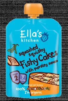 Ella's Kitchen Squashed Squishy Fishy Cakes 130g Stage 2 (7 months +)
