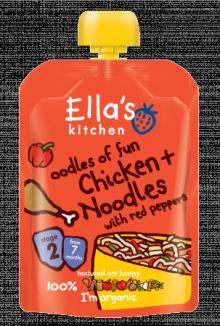 Ella's Kitchen Chicken & Noodles with Red Peppers 130g Stage 2 (7 months +)