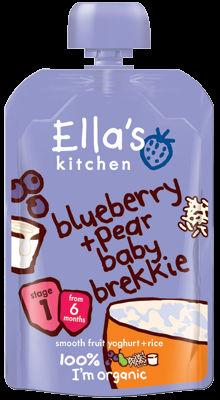 Ella's Kitchen Blueberry & Pear Baby Brekki 100g Stage 1( 6 month + )