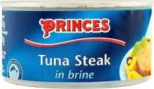 Princes tuna steak in Brine