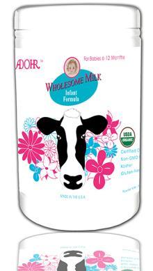 Adohr Wholesome Children  Organic  Powder  Milk  6-12 Months USDA FDA Approved Ingredients USA For Expor