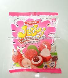 YOGEE  Lychee   Jelly  with Nata De Coco (25gm) -  jelly , pudding,  lychee  flavour  jelly ,  fruit   jelly