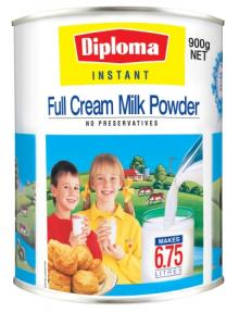 Diploma Instant Full Cream Milk Powder Can (900g) Fonterra Dairy