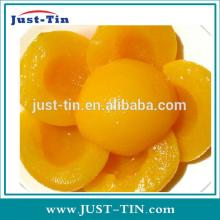 Healthy food Canned yellow peach in syrup Glass canned yellow peach / canned fruit in light syrup