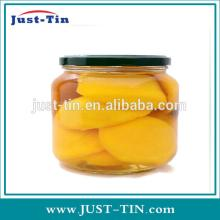 Glass canned peach /canned yellow peach / canned fruit in light syrup