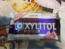 Xyliton prevents tooth decay sugar free chewing gum blueberry flavor