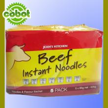 chinese beef flavour instant family packing bag noodle