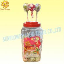 Colourful Bubble Gum Lollipop