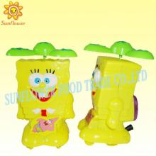 Pull Back Cartoon Animals Fan Toy Candy
