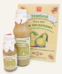 Organic pear and apple juice