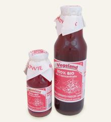 Organic red currant and apple juice