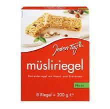 Jeden Tag Muesli Bars Nut 200g.