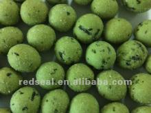 Kosher   wasabi  flavor coated green peas