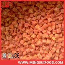 A grade Chinese IQF frozen carrot dice