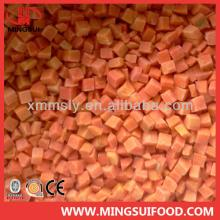 A grade Chinese IQF frozen carrot dices