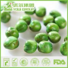 Crispy salty green peas