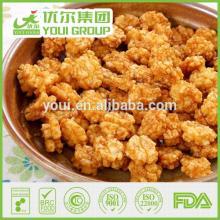 Hot Spicy Flavor Round Rice Crackers