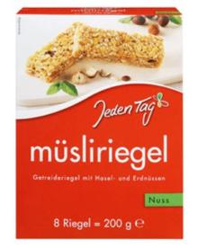 Jeden Tag Nut muesli bar 200g