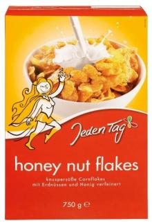 Jeden Tag breakfast cereal Honey Nut Flakes 750g