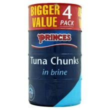 Princes Tuna Chunks Brine 4pk