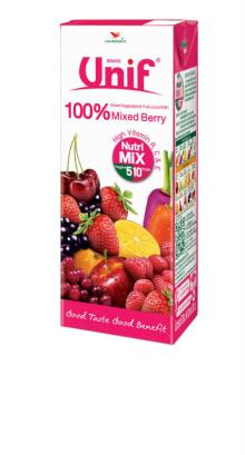 100% Mixed Vegetable & Fruit juice with Mixed Berries.