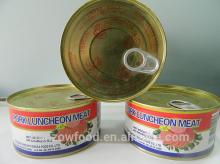 340g Canned Pork Luncheon Meat in Round Tin with Easy-open Lid
