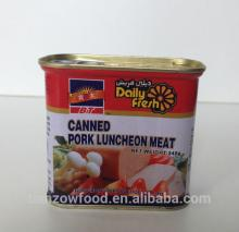 340g Canned Pork Luncheon Meat in Rectangular Tin with Easy-open Lid