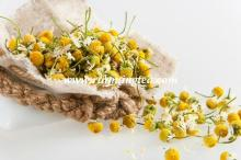 Dry chamomile whole flower, no pesticide, EU standard