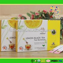 Chinese Tea Brands Best keep Fit Instant Fruit Lemon Black Tea Powder