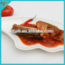Canned   horse   mackerel  fish in tomato sauce