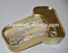 high quality HGT Canned Sardine fish in brine canned fish (fish shrimp squid crab cod salmon surimi)