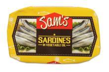 Sam's Sardines in Vegetable Oil
