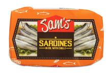 Sam's Sardines in Oil with Chili