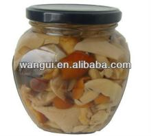 Canned Mixed Mushroom In Glass Jar