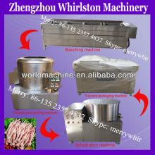 Best sell Automatic Stainless Steel chicken feet peeling line 500kg/h