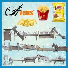 Automatic fried potato chips making machines/potato french fries making machines