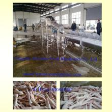 chicken paw peeling machine /automatic chicken feet peeling machine line/ chicken feet processing ma
