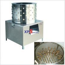 chicken plucker machine or gizzard cleaning and feet peeling machine