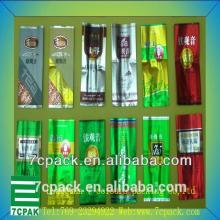 High quality and custom printed side gussets tea packaging bag/aluminum foil side gusset tea bag