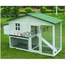 Outdoor large easy clean wooden chicken coop with nesting box