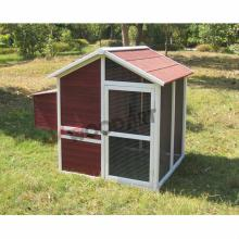 Easy clean waterproof wooden chicken coop with nesting box