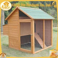 Large wooden chicken coop wire netting with ramp