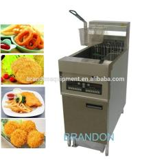 High quality electrical fryer with oil filter and deep cold zone design