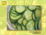 Pickled slice cucumbers in glass jar by thongtanfood